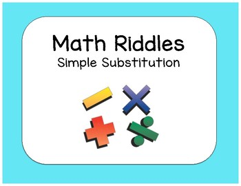 Simple Substitution Math Riddle