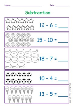Simple Subtraction Equations