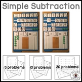 Simple Subtraction File Folder Activity and Blank Subtract