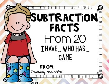 Simple Subtraction (From 20) I Have...Who Has...Game