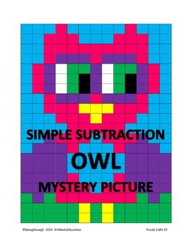 Simple Subtraction - Owl - Mystery Picture