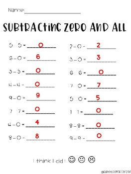 Simple Subtraction Printables