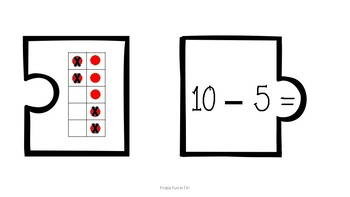 Simple Subtraction Puzzles, Math Station for Subtraction within 12!