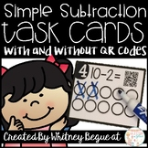 Simple Subtraction Task Cards (With and Without QR Codes)