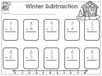 Simple Subtraction {Winter Theme} Freebie