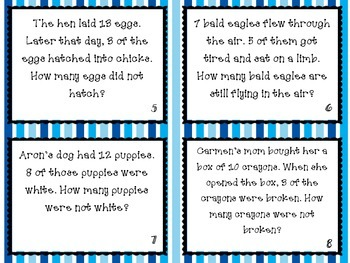 Simple Subtraction Word Problems