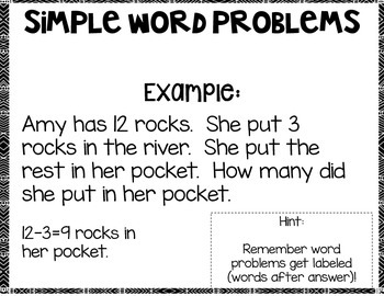 Simple Subtraction Word Problems Edition 3: Math Notebook CCS 1.OA.A.1