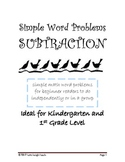 Simple Subtraction Word Problems for Beginner Readers