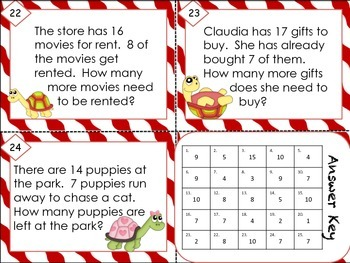 Simple Subtraction Word/Story Problems