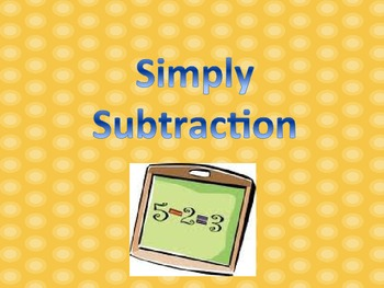 Simple Subtraction with flash cards