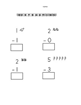 Simple Subtraction with pictures