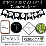 Simple Succulent Classroom Decor
