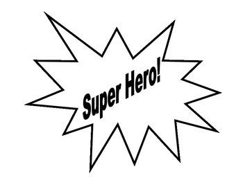 Simple Super Hero Behavior Clip Chart
