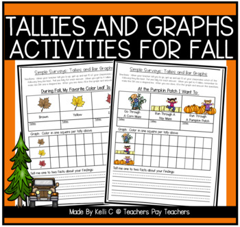 simple surveys tallies and bar graphs for fall by kelli c tpt