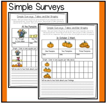 Simple Surveys: Tallies and Bar Graphs for Fall