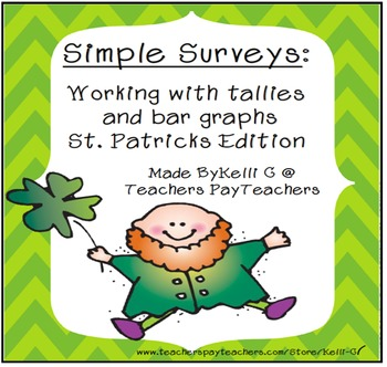 Simple Surveys: Tallies and Bar Graphs for March (St. Patrick's Day)