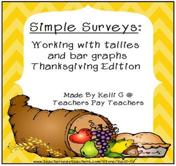 Simple Surveys: Tallies and Bar Graphs for November (Thank