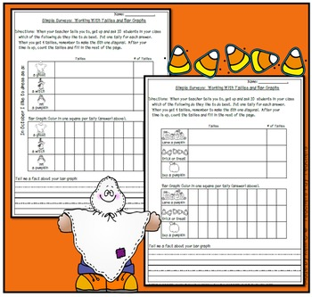 Simple Surveys: Tallies and Bar Graphs for October