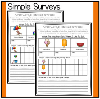 Simple Surveys: Tallies and Bar Graphs for Summer