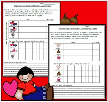 Simple Surveys: Tallies and Bar Graphs for Valentines Day