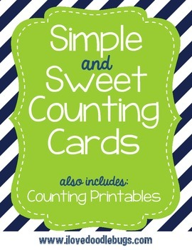 Simple & Sweet Counting Cards and Printables Counting by 1's,5's and 10's
