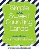 Simple & Sweet Counting Cards and Printables Counting by 1