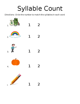 Simple Syllable Count