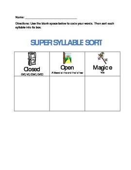 Open Closed Silent E Worksheets & Teaching Resources | TpT