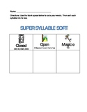 Simple Syllable Sort for Closed, Open and Magic e