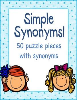 Simple Synonym Puzzle Piece game (Speech Savvy)