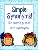 Simple Synonym Puzzle Piece game (Speech Savvy)