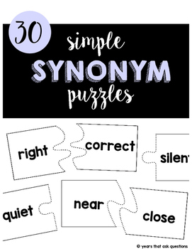 Simple Synonym Puzzles