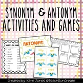 Synonyms and Antonyms Activities and Games