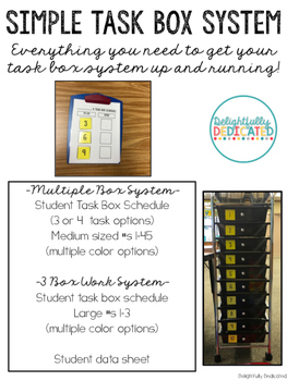 Simple Task Box System for Special Education Classrooms