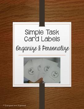Simple Task Card Labels