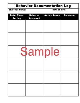 Simple Teacher Binder Forms