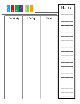 Simple Teacher Binder Pages