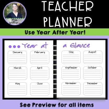 Simple Teacher Binder/Planner - large layout, black/white/minimal color