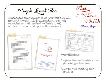 Simple Teacher Lesson Plan Template and Guide