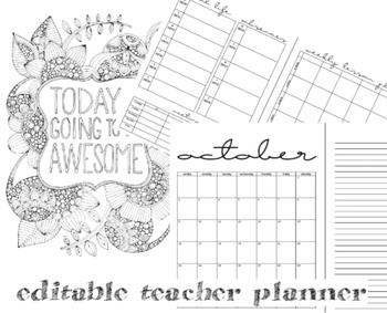 Simple Teacher Planner (Editable)