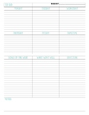 Simple Teacher Planner Pages