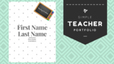 Simple Teacher Portfolio Template