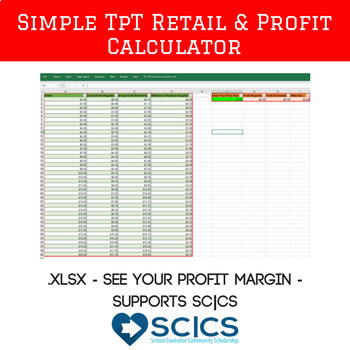 Simple Teachers Pay Teachers Retail Price and Profit Calculator (Oct 17 Update)
