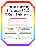 """Simple Teaching Strategies GOLD """"I Can"""" Statements"""