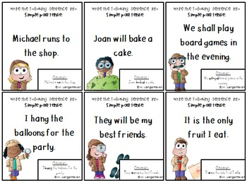 Simple Tense Board Game