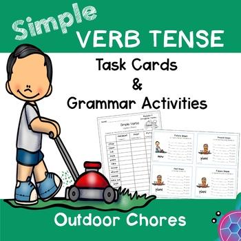 Simple Tense Verbs - Outdoor Chores