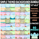 Simple Themed Background Bundle - Pack 1 (Lime and Kiwi Designs)