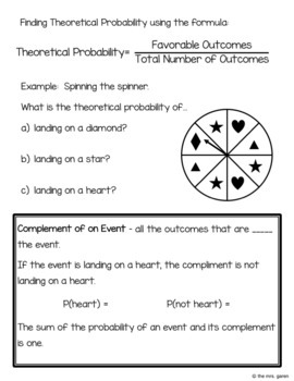 Simple Theoretical Probability Notes