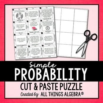 Theoretical Probability Puzzle (Simple Events)
