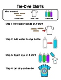 Simple Tie Dye Shirt Directions with Clipart